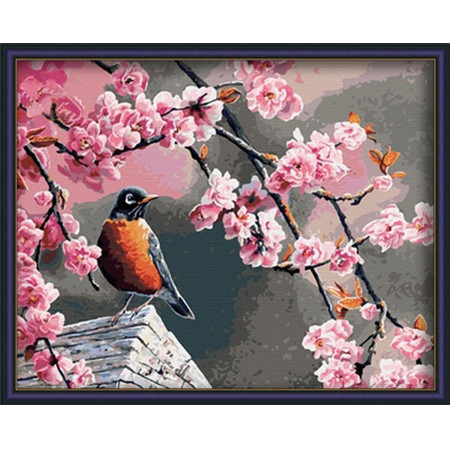 Картина по номерам Птичка на крыше