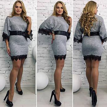 Батальное мини платье