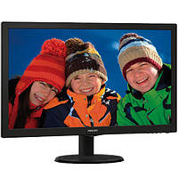 Монитор для компьютера экран 23,6 дюйм PHILIPS  243V5LSB/62 TFT TN LED подсветка 1920 х 1080 1000:1 черный