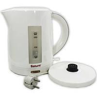 Электрочайник Saturn ST-EK0013 Белый скрытый нагревательный елемент мощностью 2000 Вт бъем 1,7 л