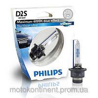 Ксенон D2S Philips Blue Vision 85122BVUS1 85V 35W 6000K P32D-2 / BLUEVISION - ЯРКИЙ ГОЛУБОЙ СВЕТ