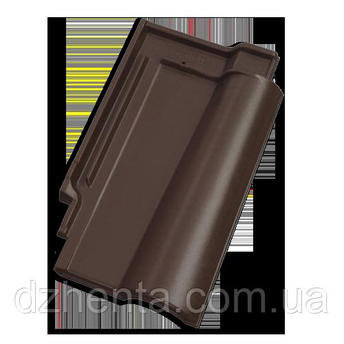 Керамическая черепица TONDACH Романская коричневая ангоба