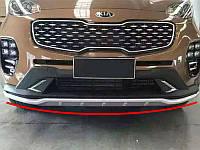 Накладки на бампер передняя+задняя на Kia Sportage 2016