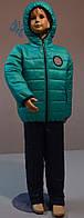 Демисезонный костюм (куртка и штаны) для мальчика 2-5 лет (размер 98-116, силиконизированый синтепон) PoliN line
