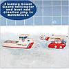 """Набор плавающих блоков для ванны """"Береговая Охрана - Лодка и вертолет"""" для детей от 3 лет ТМ Just Think Toys Микс 22091, фото 2"""
