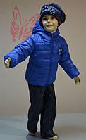 Костюм детский осень /весна для мальчика от 3 до 10 лет на синтепоне (размер 98-140, штанишки и курточка) PoliN line