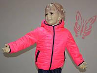 Курточка детская демисезонная для девочки 3-6 лет (размер 98-116) ТМ PoliN line Барби / темно синий