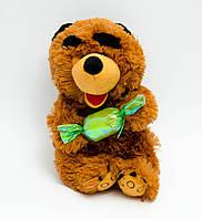 Мягкая игрушка озвученная медведь с конфетой №2119-20