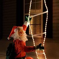 Рождественские украшения Дед Мороз на лестнице 240 см