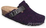 Сабо ортопедические женские комнатные, верх-текстиль(т.фиолетовый) Rim, Grubin, 5353