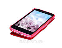 Чехол книжка Nillkin Fresh Leather Case для телефона смартфона Lenovo A516 красный red