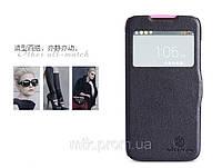 Чехол книжка Nillkin Fresh Leather Case  для телефона смартфона Lenovo A516 черный black