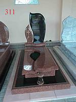 Элитное надгробие из гранита лезники и базальта