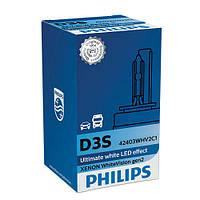 Ксенон D3S Philips WHITE VISION GEN2 D3S 42V 35W 4300К P32D-5 ЯРКОСТЬ СВЕТА УВЕЛИЧЕНА НА 120%