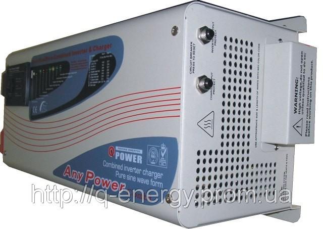 Преобразователь (инвертор) напряжения 12/220 Q-POWER QPC3012/3(6)кВт sinus lcd, фото 1