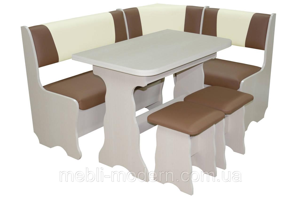 """Кухонный уголок """"Лагуна""""+стол+2 табуретки"""