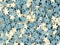 Посыпки кондитерские — Звезды бело-голубые
