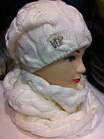 Набор Лало , теплая шапка на подкладе + хомут труба (разные цвета)