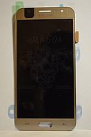 Дисплей Samsung J500 Galaxy J5 с сенсором Золотой Gold оригинал , GH97-17667C