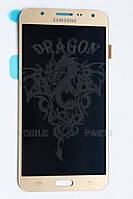 Дисплей Samsung J700 Galaxy J7 с сенсором Золотой Gold оригинал , GH97-17670B
