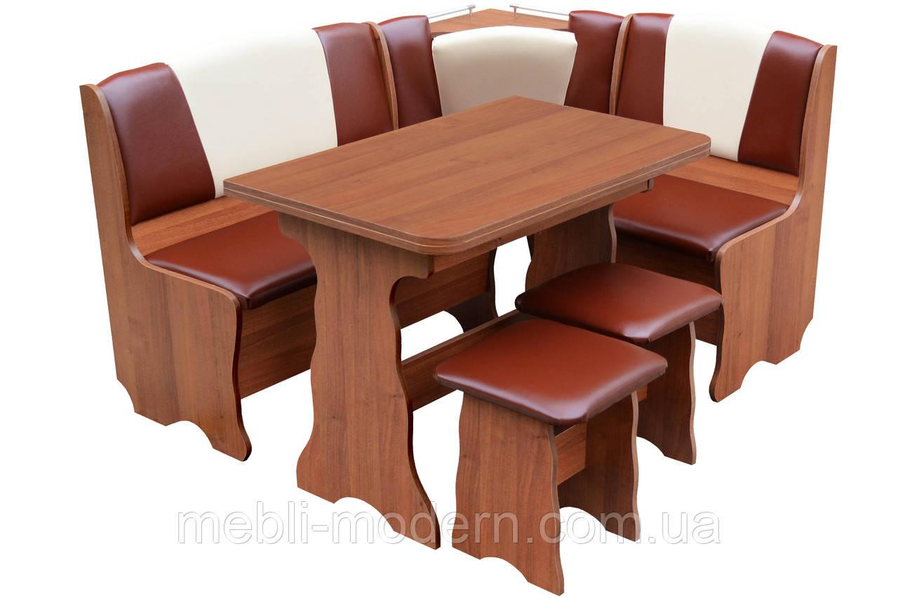 "Кухонный уголок ""Бриз Комби"" + стол + 2 табуретки"