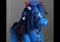 Подарочная Синяя Лошадь - символ 2014 года.