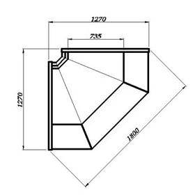 Холодильная угловая витрина ВХСу-2 Carbomа, фото 2