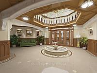 Дизайн интерьеров холла особняков. Дизайн зала  .