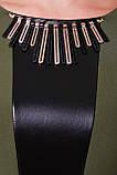 Стильное платье Елена оливка (экокожа) 50 р, фото 2