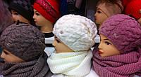 Набор шапка на флисе + хомут восьмерка или труба  (разные цвета)