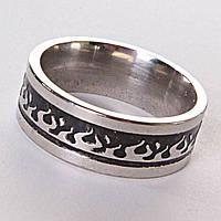[17,18,19,20] Мужское кольцо обручальное огонь 17