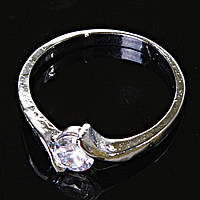 [17,18,19] Кольцо Помолвочное завиток с камнем 19