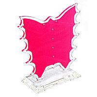 Подставка для серёг, пластиковая красная, высота 90мм