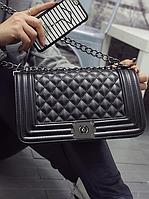 Сумка , Клатч  Шанель Chanel Le Boy 27см Черный цвет