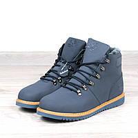 Ботинки Мужские зимние Timberland синие мех 41 размер, зимняя обувь
