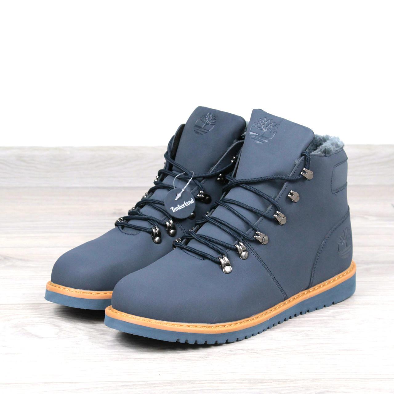 a611b292 Ботинки Мужские зимние Timberland синие мех 3788, зимняя обувь ...