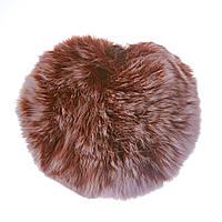 Брелок бубон  на резинке нат. мех 5 см коричневый