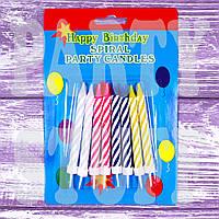 Свечи для торта витые с подставками, 8 шт , фото 1
