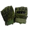 Перчатки  кожаные тактические без палцев в ассортименте