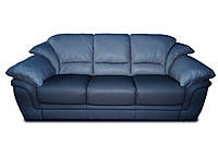 """Мягкий трехместный диван в коже """"OLGA"""" (Ольга). (212 см)"""