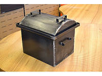 Коптильня малая Овал для горячего копчения 2 мм (420х340х330)