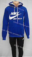 Cпортивный мужской костюм  Nike  трикотаж капюшон синий