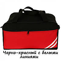 Сумка ручная кладь RGL NOG черно-красный (белые-полоски)