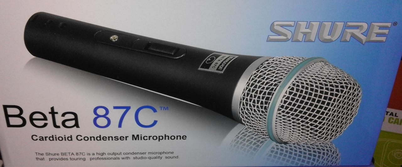 Микрофон со шнуром проводом Shure Beta 87C