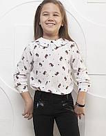 Подростковая блузка с удлиненной спинкой в расцветках.