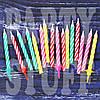 Свечи для торта рис. витой  24 шт