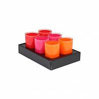 """Стакан для ванной комнаты Axentia """"Graz"""" orange/pink/rot"""