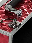 """Чемодан для визажиста с выдвижными полочками """"Diamonds"""", красный, фото 7"""