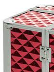"""Чемодан для визажиста с выдвижными полочками """"Diamonds"""", красный, фото 8"""