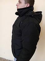 """Куртка-пилот """"Охрана"""", зимний, черный, для работников охранных структур"""
